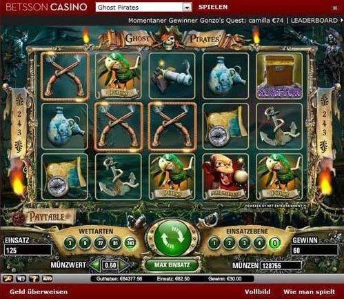 Betsson Casino Gewinnauszahlung