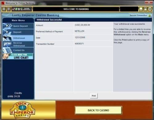LuckyEmperor Casino Auszahlung