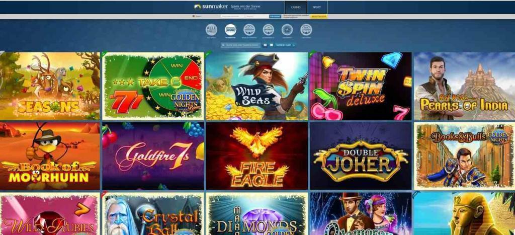 Sunmaker Casino Spiele