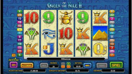 Queen of the Nile 2 – Freispiele wählbar!