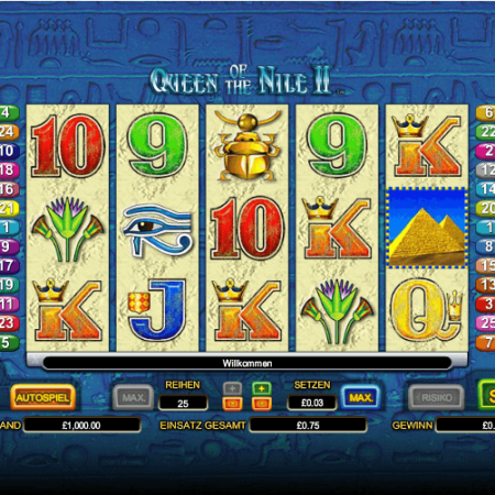 Queen of the Nile 2 – Freispiele wählbar!
