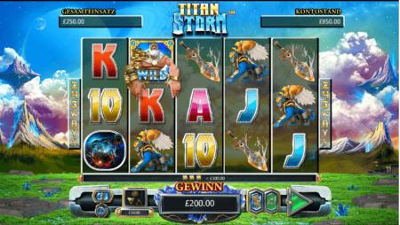 Titan Storm mit Scatter-Wild-Funktion!