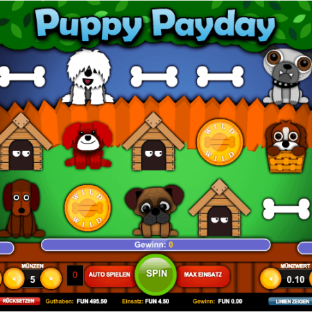Puppy Payday – warum nicht mal ein Slot mit Hunden?