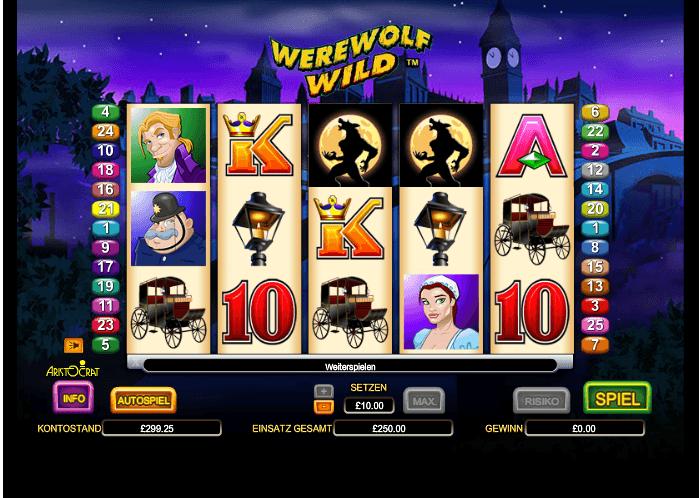 Werewolf Wild – Freispiele mit dem Werwolf