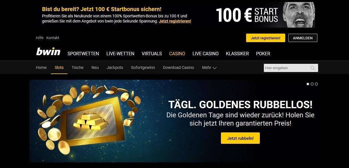 jackpot slots im bwin online casino spielen