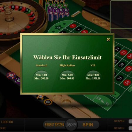 Europäisches Roulette kostenlos online spielen