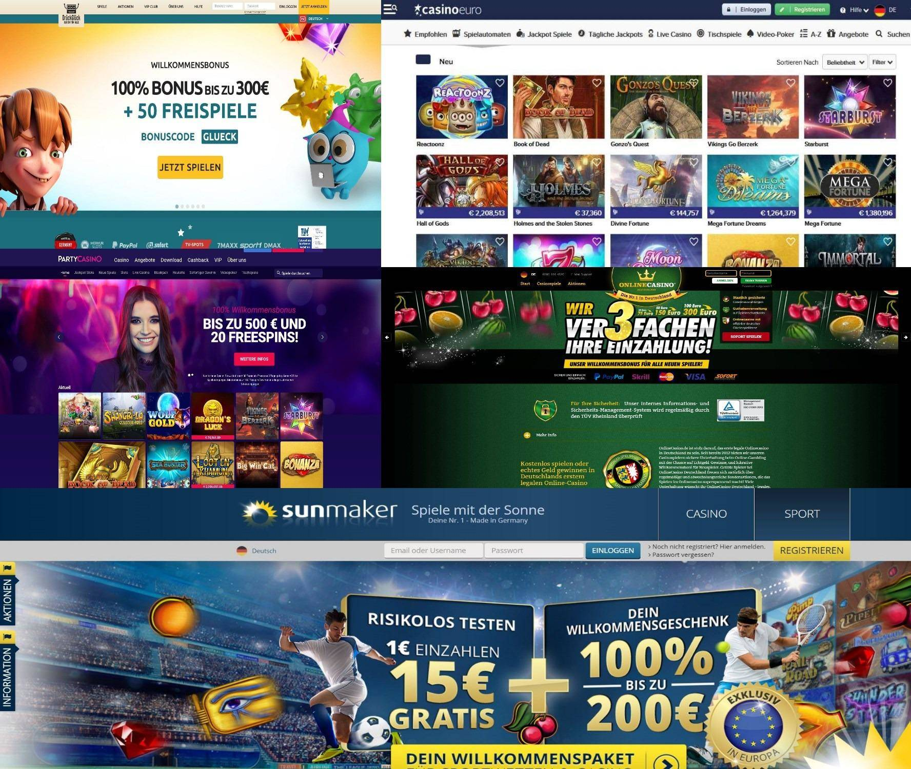 online casinos test