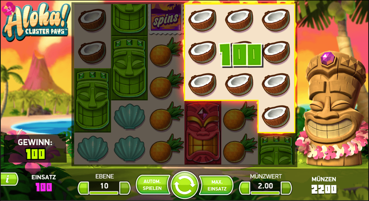 aloha! cluster pays spielen