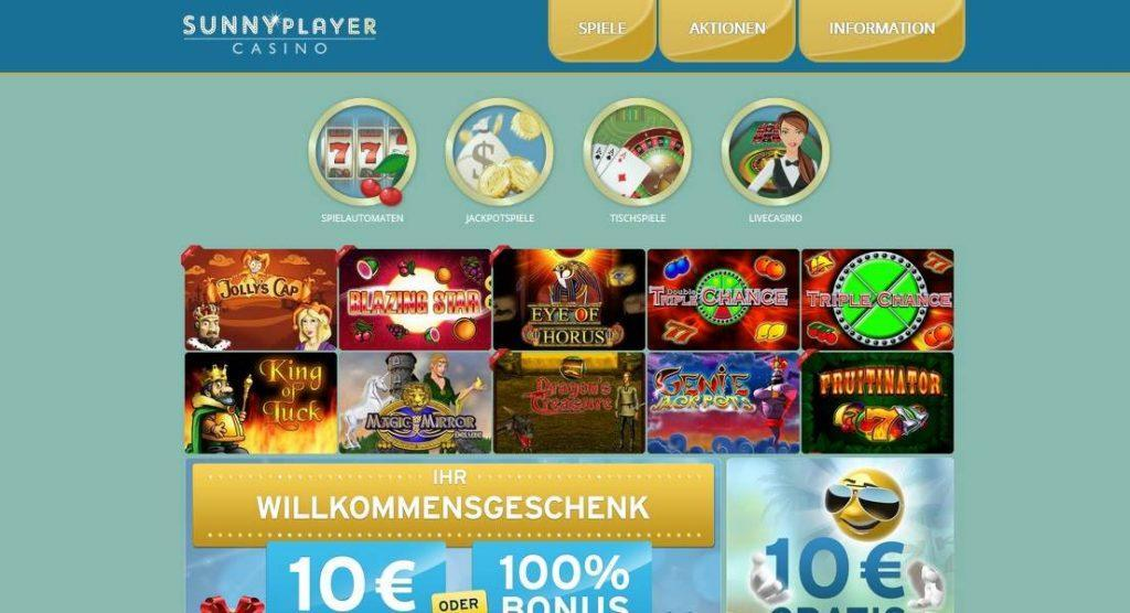 sunnyplayer casino online Test