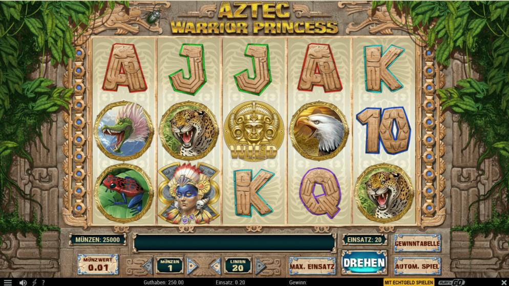Aztec Warrior Princess – Frei- und Bonusspiele