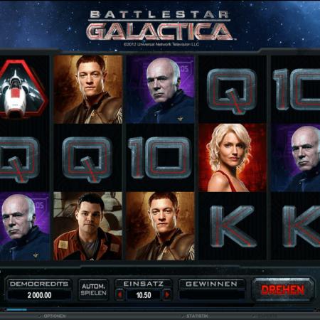 Die Fernsehserie Battlestar Galctica jetzt auch als Videospielautomat!