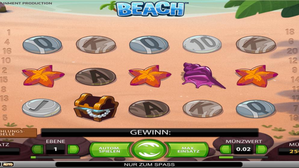 Beach – mit sehr hohen Einsatz spielbar