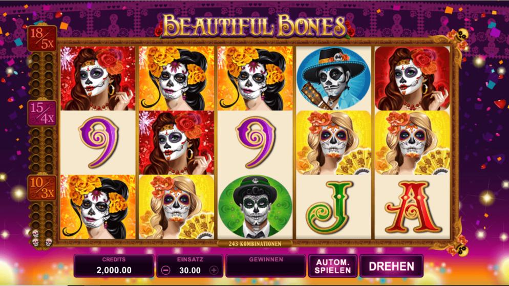 Beautiful Bones – verschiedene Freispiele wählbar