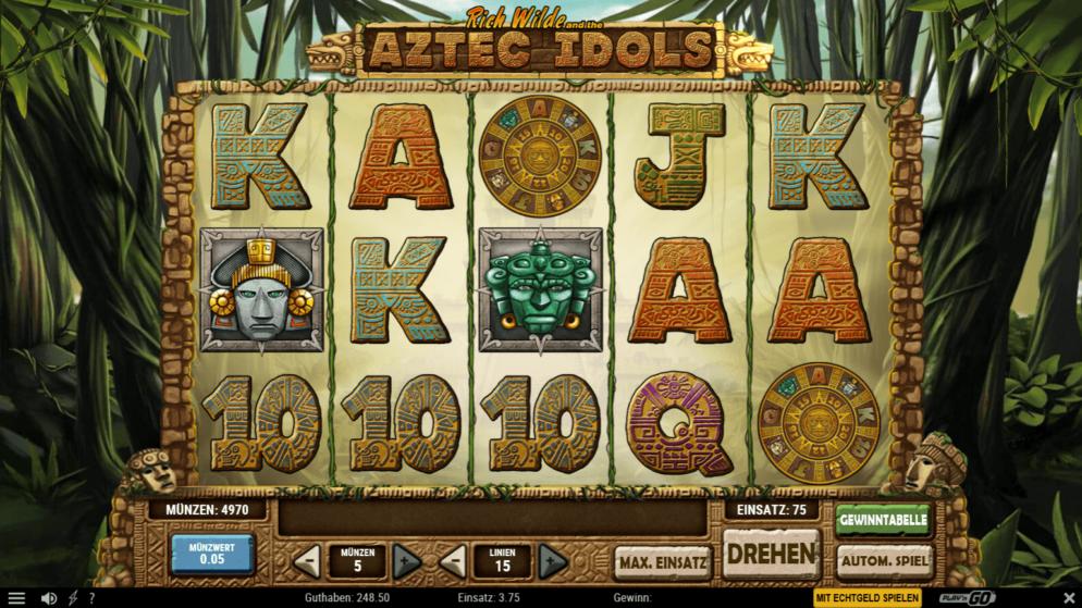 Aztec Idols – gewinne das 150-fache deines Einsatzes!