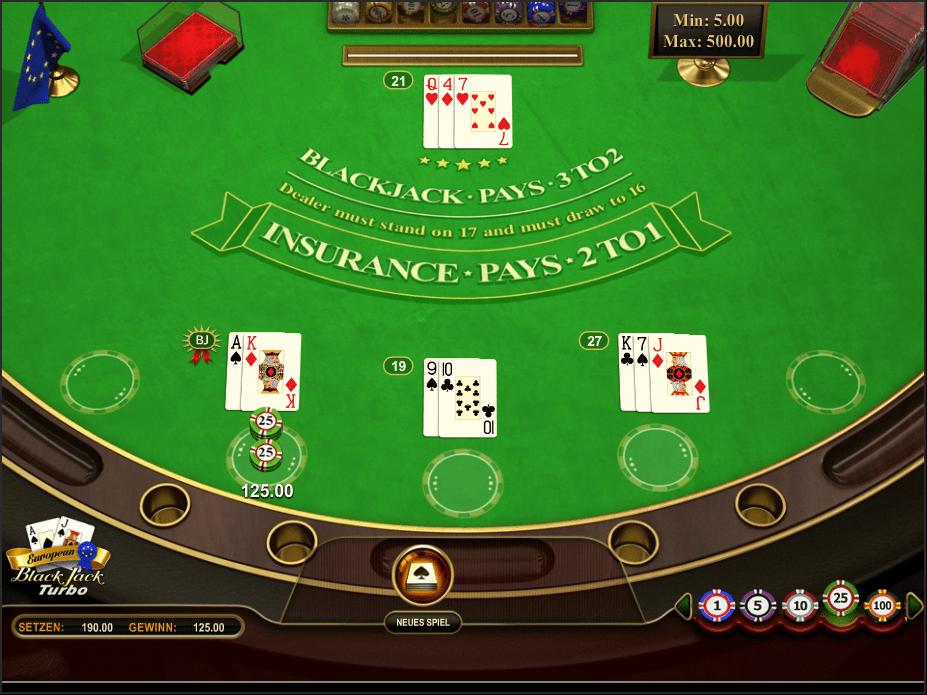 European Blackjack Turbo – Play European Blackjack Online