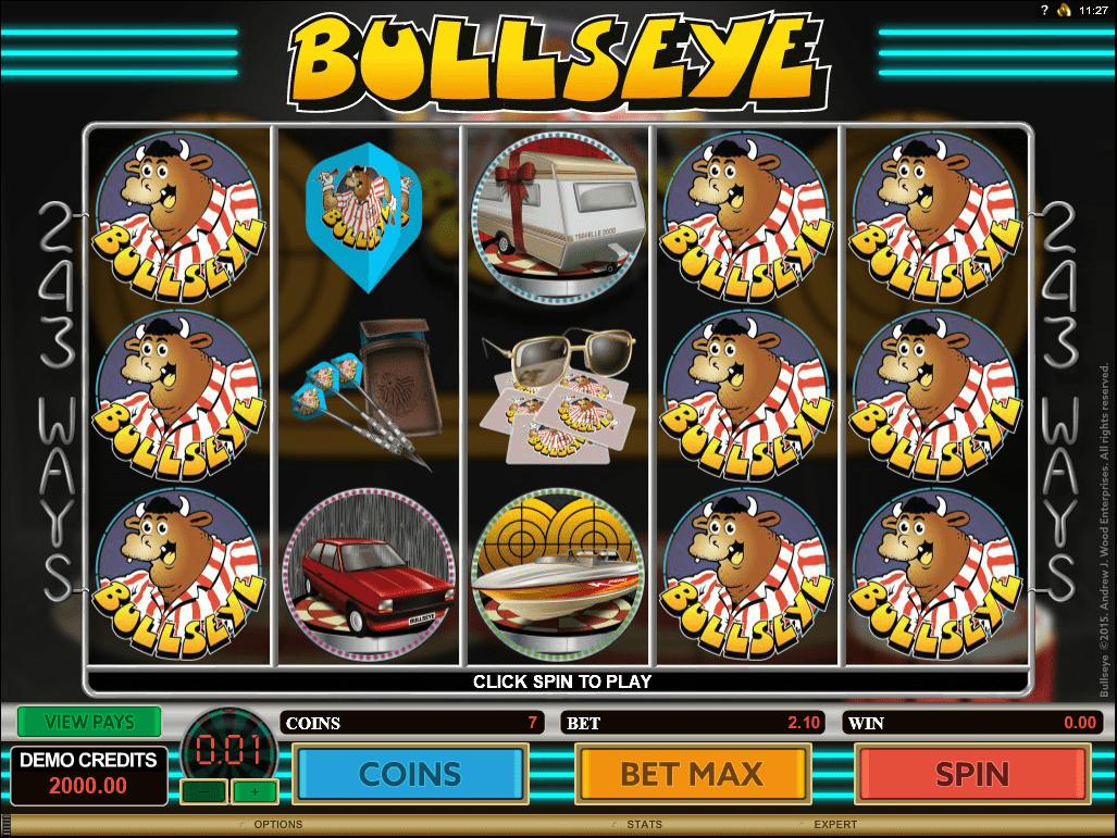 "Frei- und Bonusspiele bei ""Bullseye""!"