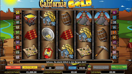 California Gold – Goldgräber mit Bonus- und Freispielen!
