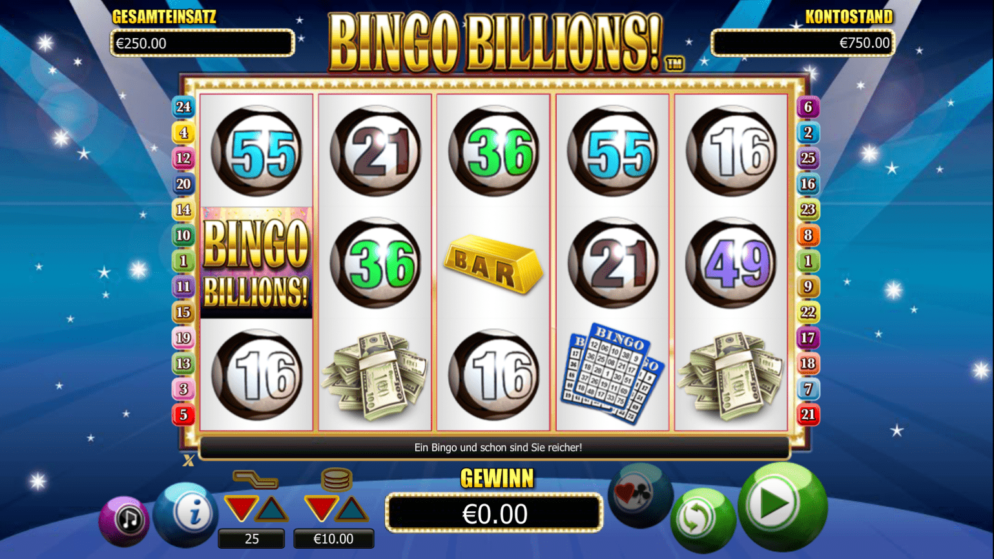 Bingo Billions – Spielautomat mit Bingodesign