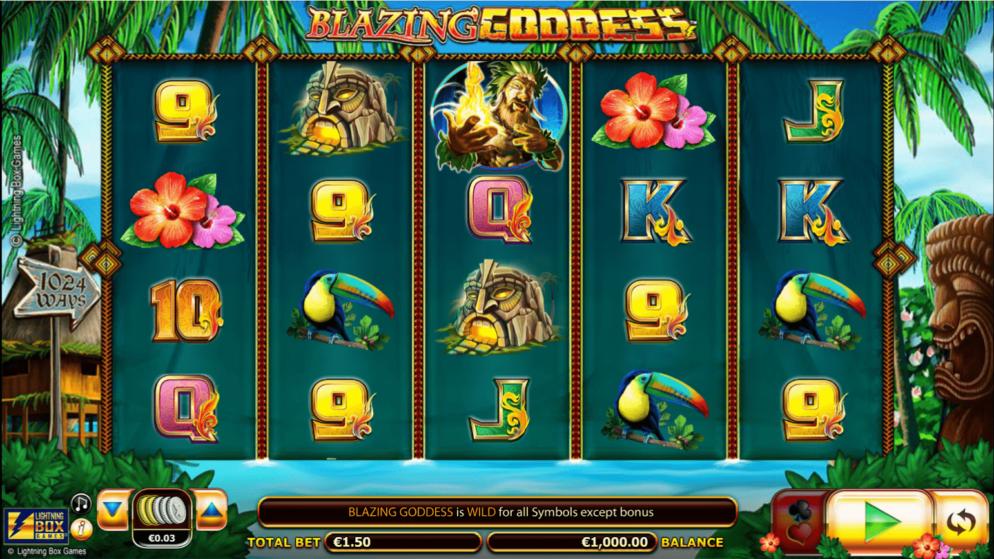 1024 Gewinnlinien bei Blazing Goddess!