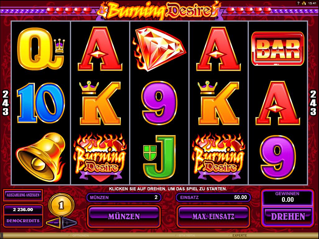 Burning Desire – Freispiele auf 243 Gewinnlinien!