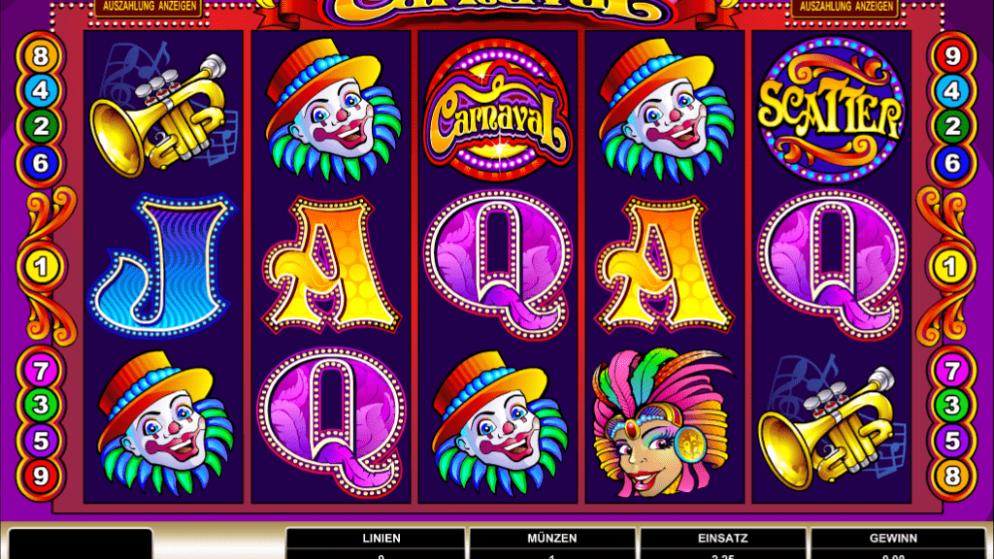 Carnaval – Karneval verpackt in einem Spielautomaten!