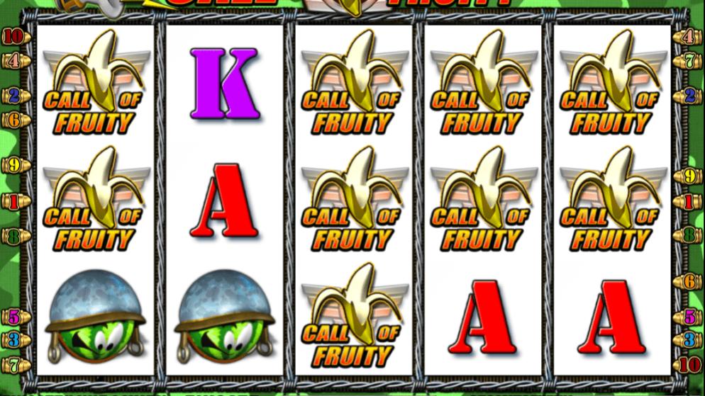 Call of Fruity – 3 verschiedene Bonusspiele