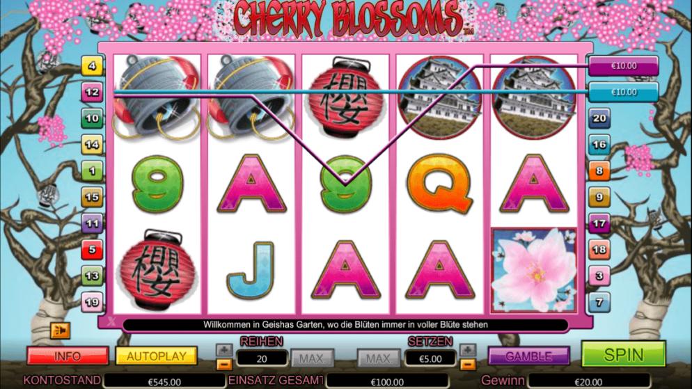 Cherry Blossoms – Multiplikator x6 in den Freispielen!