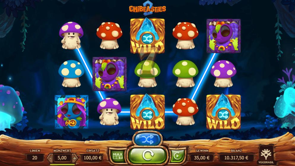 Chibeasties 2 – die Auswahl zwischen 4 verschiedenen Wild-Funktionen!
