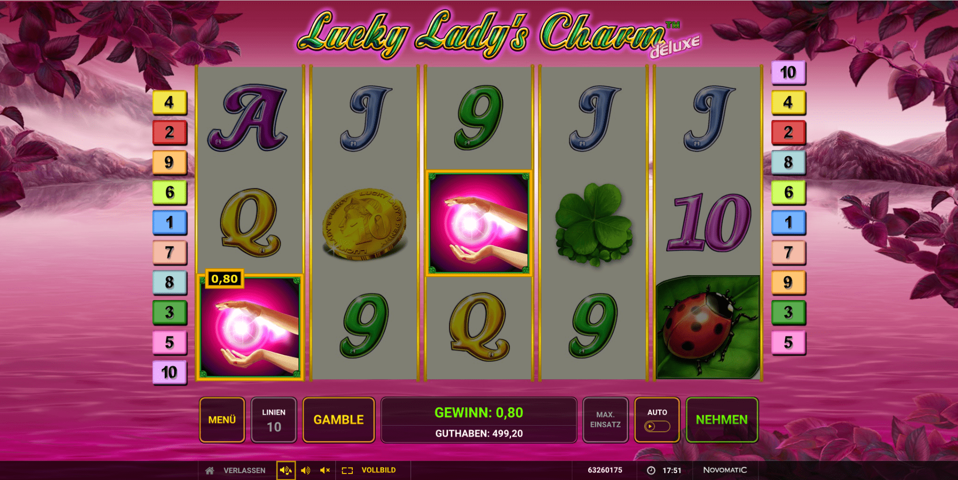 Lucky Lady's Charm Deluxe online