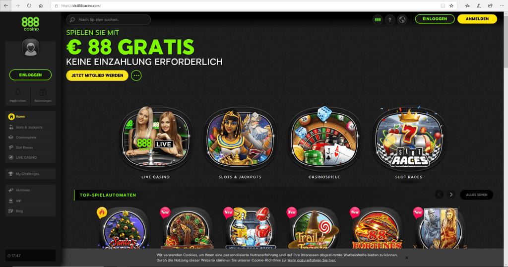 888 Casino Test online