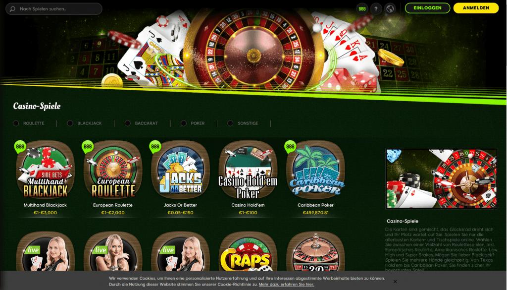 888 Casino Test