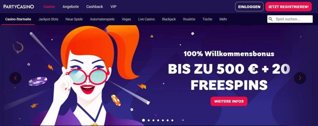 Party Casino online Test