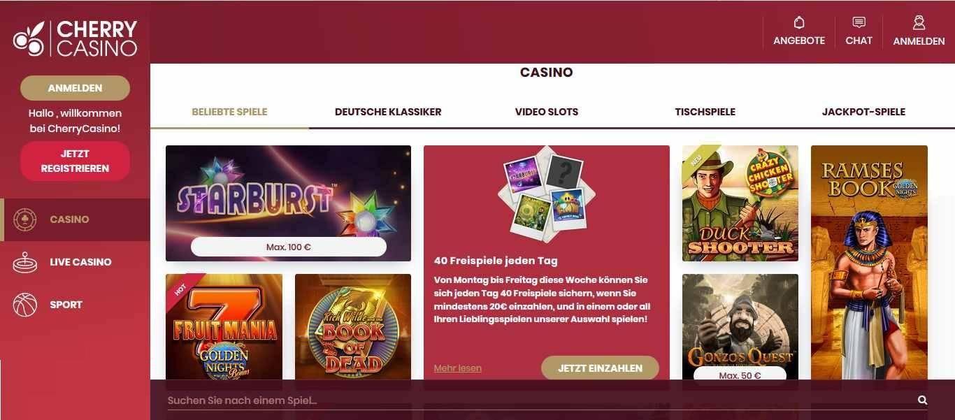 CherryCasino CasinoSpiele