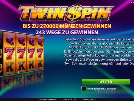 Twin Spin – Zwillingswalzen?