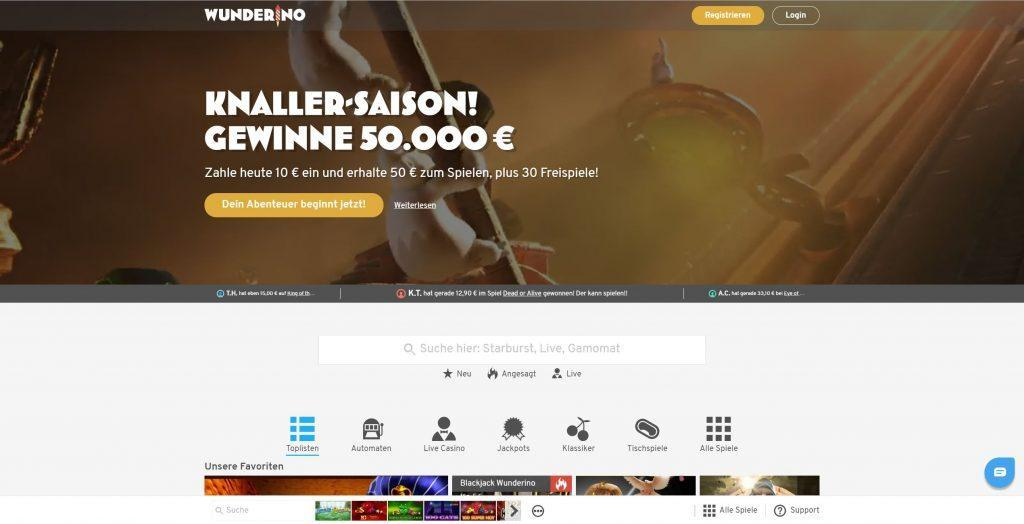 wunderino online casino test