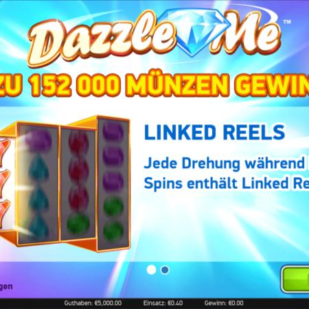 Dazzle Me- eine etwas andere Konstellation des Slots