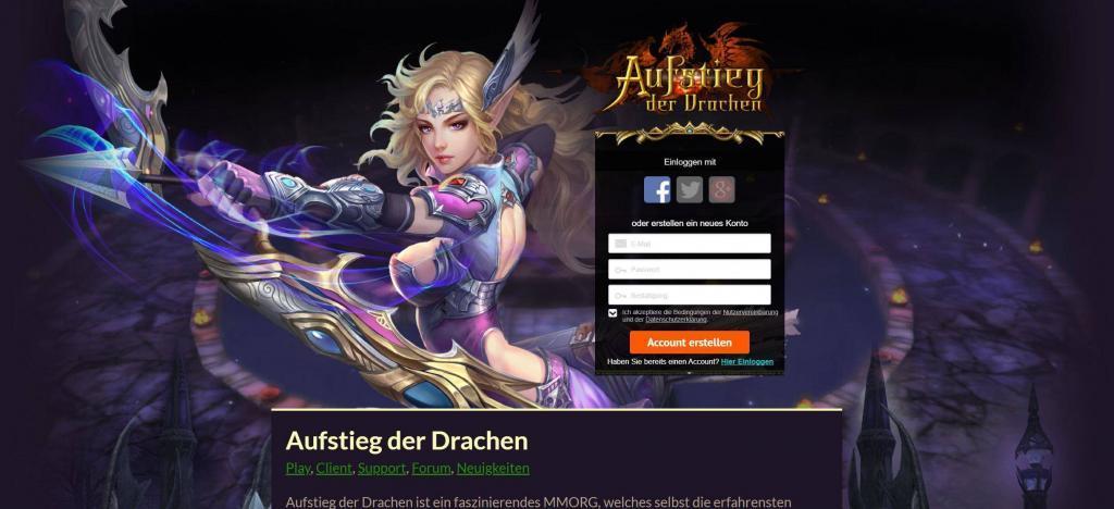 aufstieg der drachen - Online Rollenspiele Test