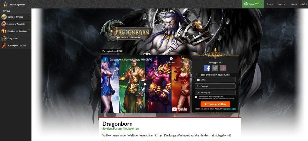 dragonborn - Online Rollenspiele Test
