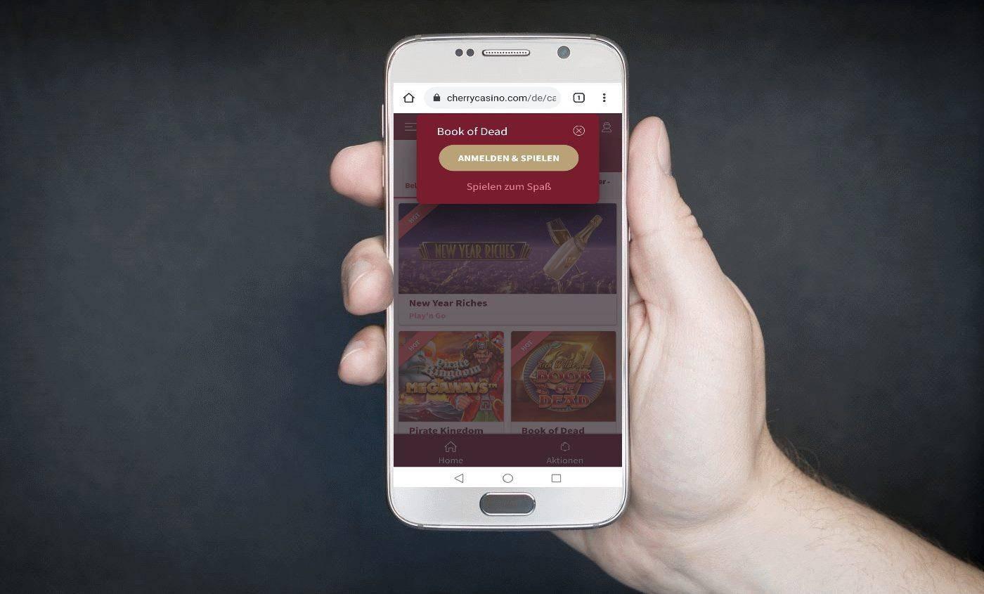 cherry casino mobile handy app