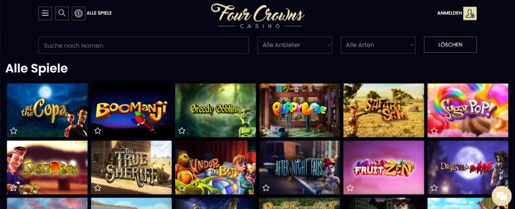 four crowns spiele - Casino des Quatre Couronnes