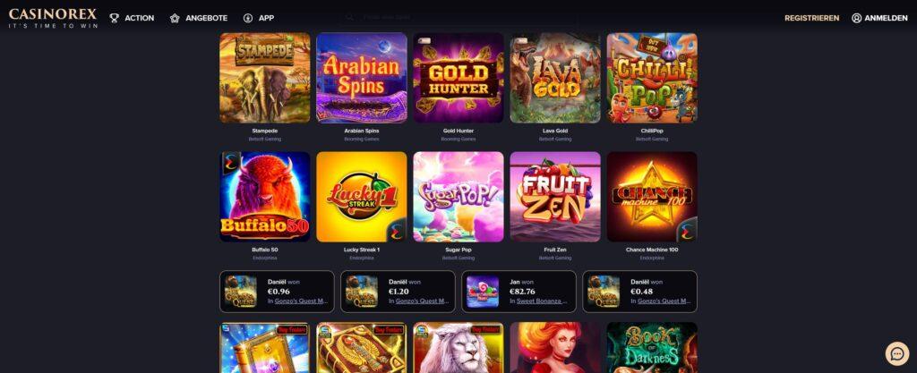 casinoorex игри