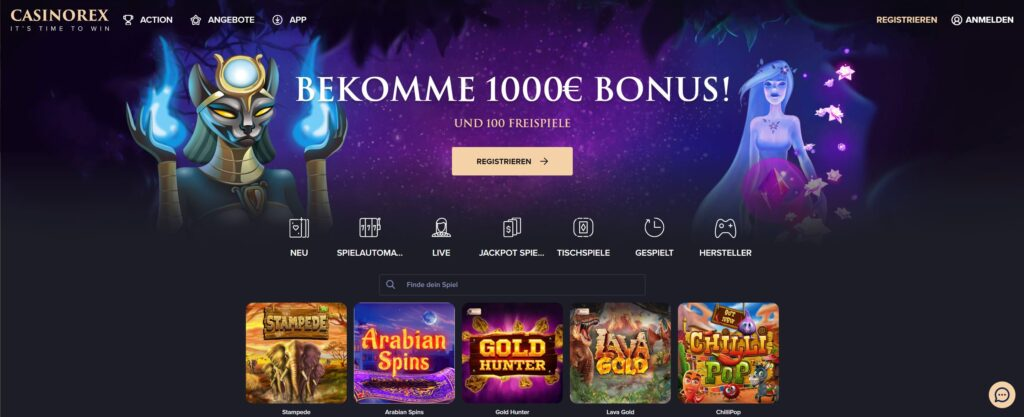 casinorex start