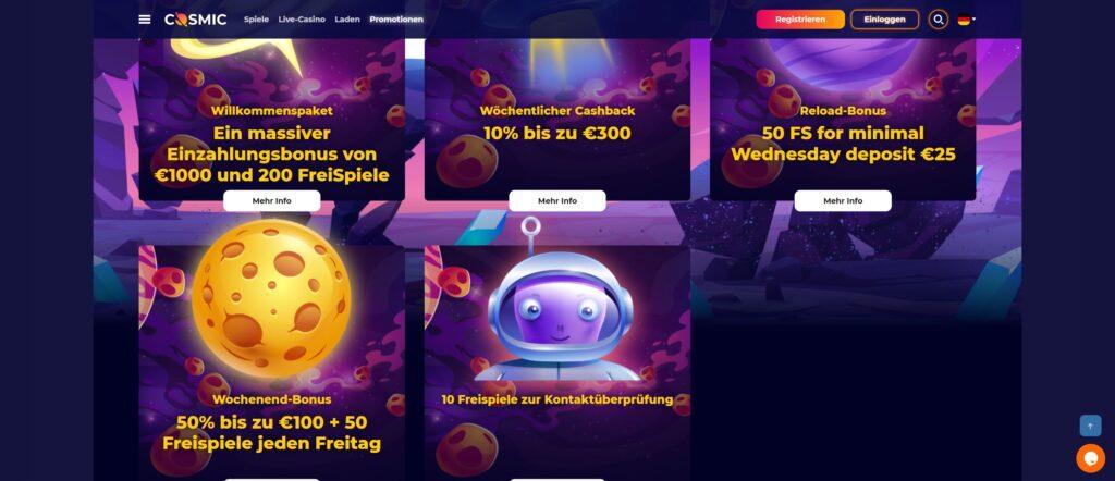 cosmic bonus - CosmicSlot -kasino